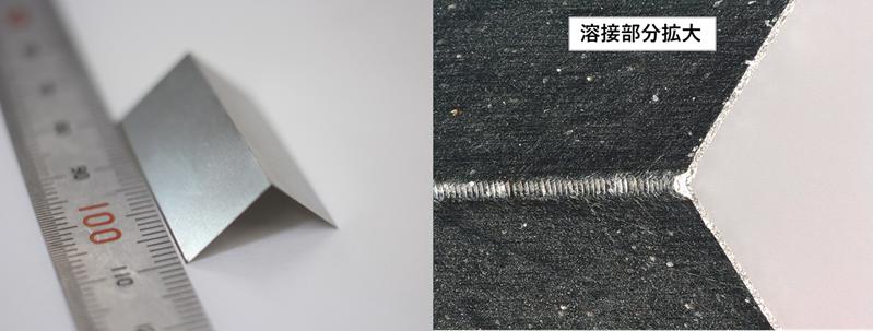 板厚0.05mm薄板溶接サンプル